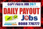 Copy Paste job Daily Payment Work at home and data entry