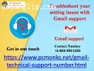 Troubleshoot your setting issues with Gmail support