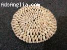 "Sea shell coaster 9"". Polished seashell place mat"