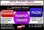 Przeprowadzki UK-Polska, transport paczek, AGD, RTV, palet